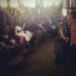 Preghiera al campo profughi delle Nazioni Unite